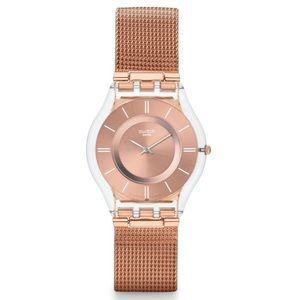 """Swatch """"Hello Darling"""" Rose Gold Watch"""